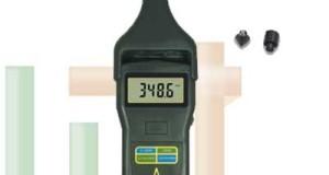 Alat Penguji Kecepatan Putaran Foto / Kontak Tachometer DT-2856