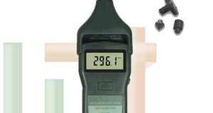 Pengukur Kecepatan Putaran Foto / Kontak Tachometer DT-2858
